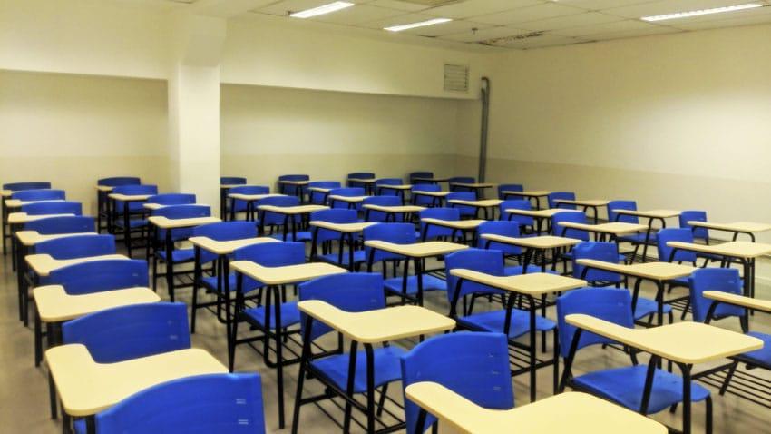 Sala de aula Fatec Rubens Lara.